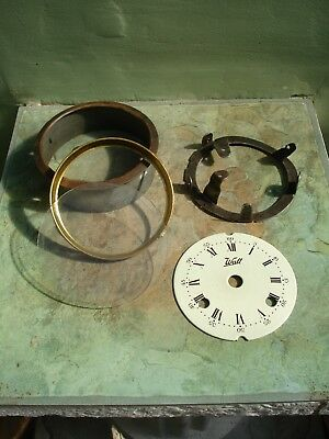 Old Walt Ceramic Clock Face And Fittings