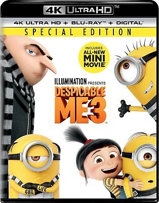 Despicable Me 3 (4k Ultra HD Blu-ray Disc ONLY, 2017)