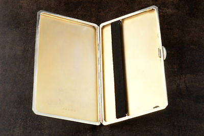 Replacement Black Elastic Kit Silver Cigarette Cigar Case In 3 Widths & 2 Clips