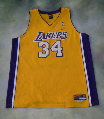c73ebaede78 NIKE AUTHENTIC LOS Angeles LA Lakers  34 SHAQUILLE O NEAL Jersey 40 ...