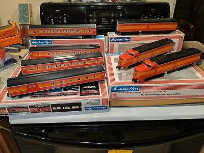 American Flyer S Scale 4-8150 Southern Pacific Alco A-B-A + 4 Pass 1981 Set C-9