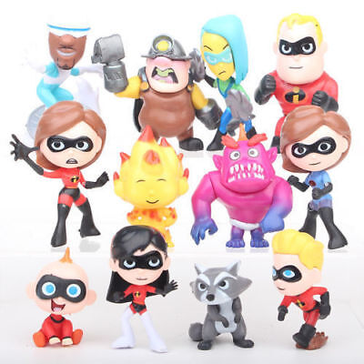 12pcs Disney Pixar The Incredibles 2 Action Figure Play set Toy Doll Cake Topper