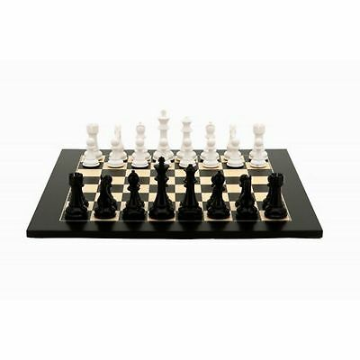Dal Rossi Black and White Chess Set 50cm Board