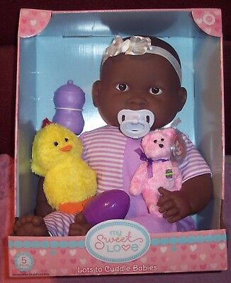 "NEW AA Ethnic Berenguer 20"" Lots To Cuddle Babies 2016 Baby Doll Ty Easter Bunny"