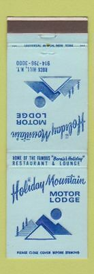 Matchbook Cover - Holiday Mountain Motor Lodge Rock Hill NY