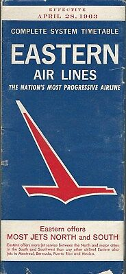 Airline Timetable - Eastern Air Lines - 28/04/63