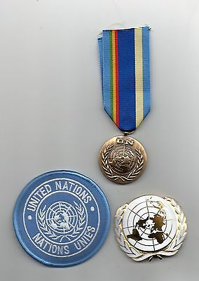 United Nations Medal For Mali ( Minusma )   ,un Beret Badge And Sleeve Badge