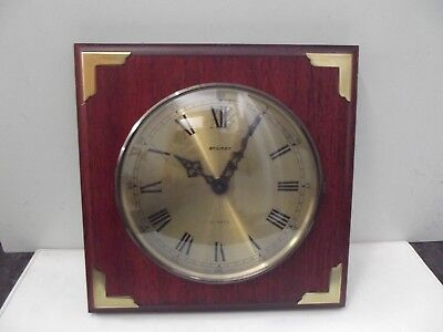 (905) Staiger maritime Wanduhr Holz Messing