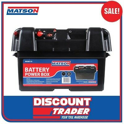 Matson Power Battery Box AGM Deep Cycle Dual System 12V USB MA98119