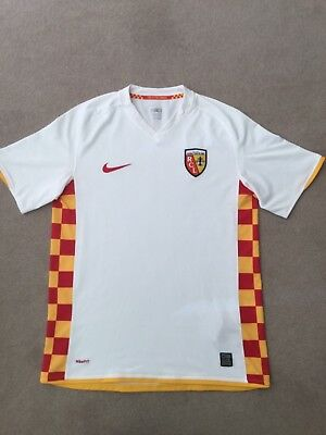 Racing Club De Lens Shirt Size 'M' Nike White Good Condition No Reserve