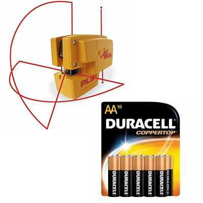 Pacific Laser Systems PLS 4 Red Tool with 10 Pack Duracell AA Batteries