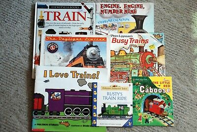 Lot of 7 Childrens Books About Trains