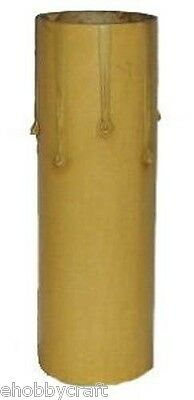 """4"""" Fibre Drip Candle Cover For Medium (Edison) Base Lamp Sockets, 6 Pieces"""