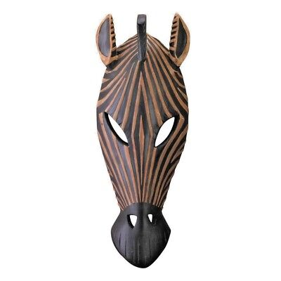 "Tribal ZEBRA WALL PLAQUE Hanging African Safari Accent Art Decor 14.2"" #34758"