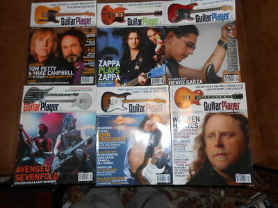 "Lot Of 6 Issues Of ""guitar Player"" Magazine~July Thru December, 2006!!"
