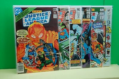 Justice League of America issues #154-155-193-197-201-208  (DC,1970s) High Grade