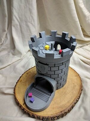 Dice Tower Castle Dice Cup Dice Box Tumbler DnD RPG Dungeons Dragons 3D Printed