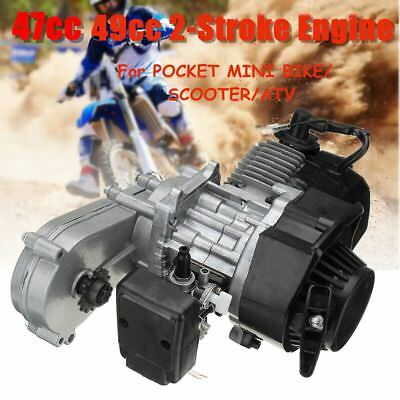 47Cc 49Cc 2 Stroke Engine Pull Start Mini Moto Pocket Dirt Bike Scooter Atv Au