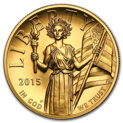 100 $ Dollar American Liberty High Relief USA 1 oz Gold 2015