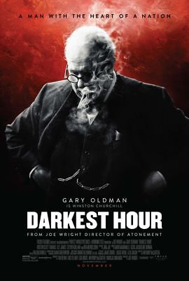 Darkest Hour - original DS movie poster - 27x40 D/S 2017 FINAL Churchill