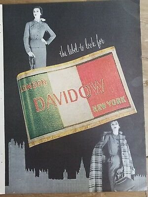 1953 Davidow women's dress Jean Patchett and Dovima vintage clothing ad
