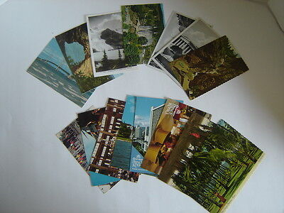 15 VINTAGE  POST CARDS STATE OF Hawaii New York Colorado Michigan Canada