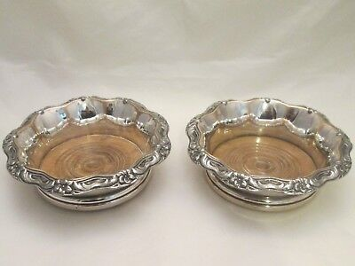 A Fine Pair of Old Sheffield Plated Champagne Coasters by Waterhouse c1830