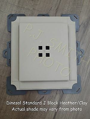 "Heather/ Clay Vinyl Siding Standard Mounting J Block 7-1/2"" x 8-1/2"""