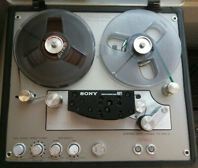 SONY TC-510-2 Portable Stereo Professional Tape Deck 1/4 Reel Recorder