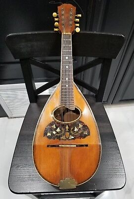 "important antique 1898 Oliver Ditson ""Victory"" model bowl style mandolin guitar"