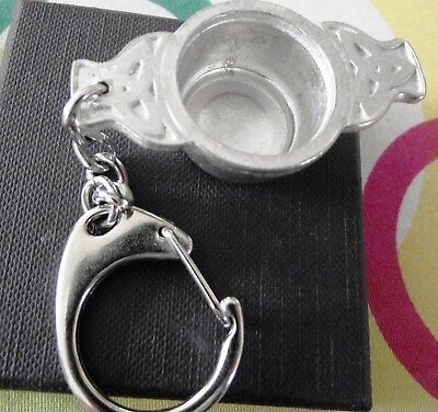Unusual Wine Taster /  Quaish Keyring - New Boxed