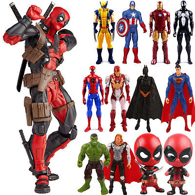 Marvel Avengers Super Hero Spiderman Hulk Iron Man Action Figure Toy Collection