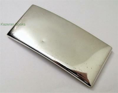 Antique 1901 Sterling Silver Curved Card Case Edwardian By Joseph Gloster