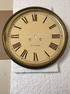 Vintage Seth Thomas Schoolhouse Regulator Wall Clock Dial & Bezel Door