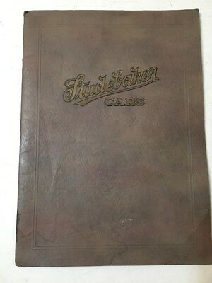 Rare Studebaker 1922 Big & Special 6 Models Brochure Advertising Manual