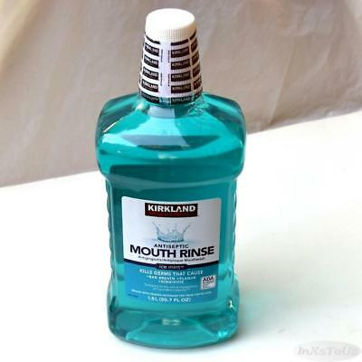 Kirkland Signature Antiseptic Ice Mint Mouth Rinse Mouthwash 1.5L Sealed