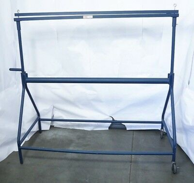"""Uline H-1034 48"""" Portable Roll Stand Steel 3"""" casters Width: 48"""" Local Pickup"""