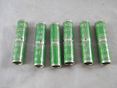 Lot Of 6 ~ New ~  Blackburn Type Cu Compression Connector  Green Die