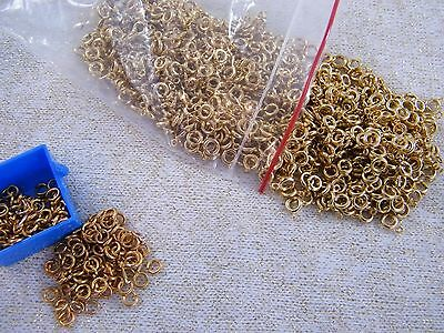 (550) Gold Tone Spring Ring Clasps 6Mm ~ Plus Some O-Rings