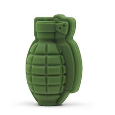 Grenade Shape 3D Ice Cube Mold Maker Bar Party Silicone Trays Mold  Tool Gift PK