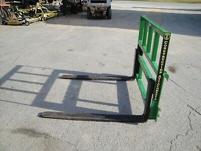 Nice Construction Attachments 48 Inch Adjustable  Pallet Forks 4000Lb John Deere