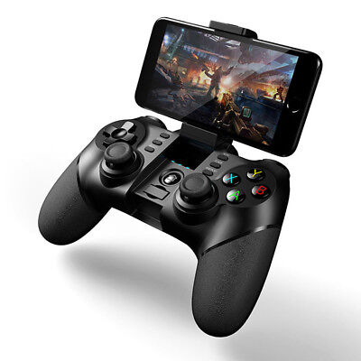 Wireless Bluetooth Gamepad Game Controller For Android IOS Cell Phone Holder TV