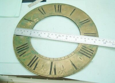 Clock makers Longcase grandfather clock brass chapter ring dial by Archer Stone
