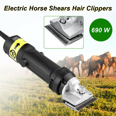 690W Heavy Duty Cattle Horse Clippers Professional Extra Blades & Horclip Baban