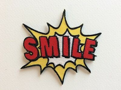 D203 // Ecusson Patch Aufnaher Toppa / Neuf / Smile 8,5*9 Cm