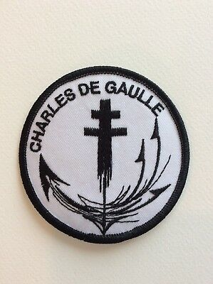 D207 // Ecusson Patch Aufnaher Toppa / Neuf / Charles De Gaulle 8 Cm