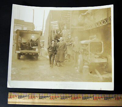 PARAMOUNT THEATER Middletown OH Ohio Crew & Truck Antique vtg 1930s Photo 8x10