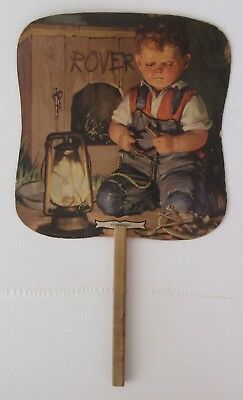 """Vintage Paper Advertising Fan- """"Rover's Gone""""- Haines… The Shoe Wizard"""