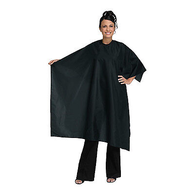 Betty Dain Hair Salon Styling Cape Nylon 45x55 Black #199 V Closure Made in USA