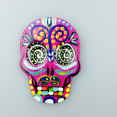 Sugar Skull Painted Tin Magnet – Day of the Dead